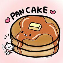 パンケーキとねこの画像(プリ画像)