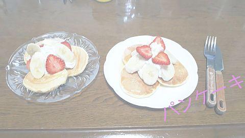 日曜日にパンケーキ作った✨の画像(プリ画像)