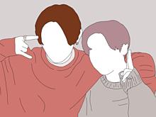山田涼介 知念侑李 線画 やまちねの画像(山田涼介、Hey!Say!JUMPに関連した画像)