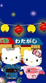 SANRIOキティお祭り壁紙の画像(プリ画像)