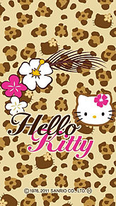 SANRIO豹柄キティ壁紙の画像(プリ画像)