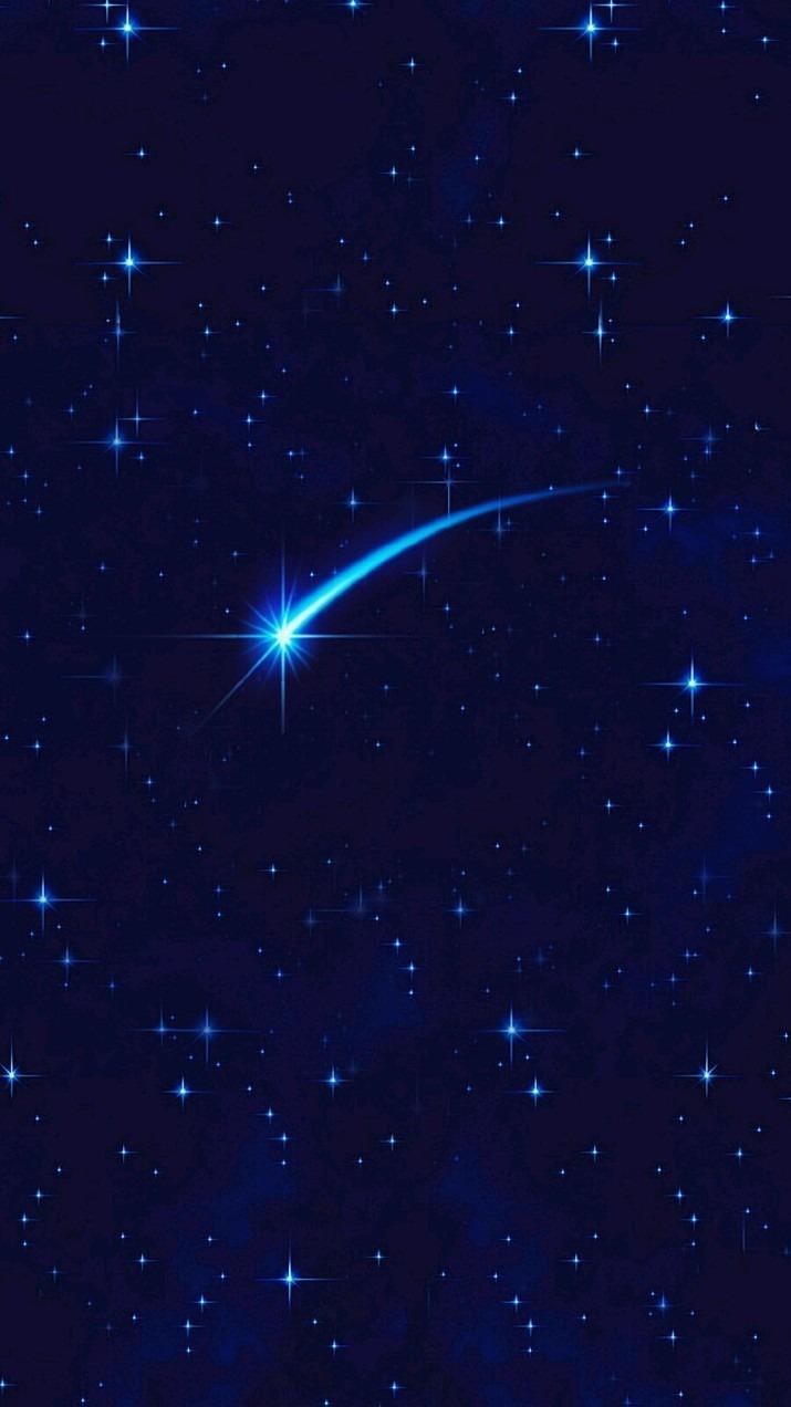 夜空を飛び交うシンプルな流れ星