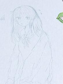 珍しく髪が長めの子を描いたの画像(長めに関連した画像)