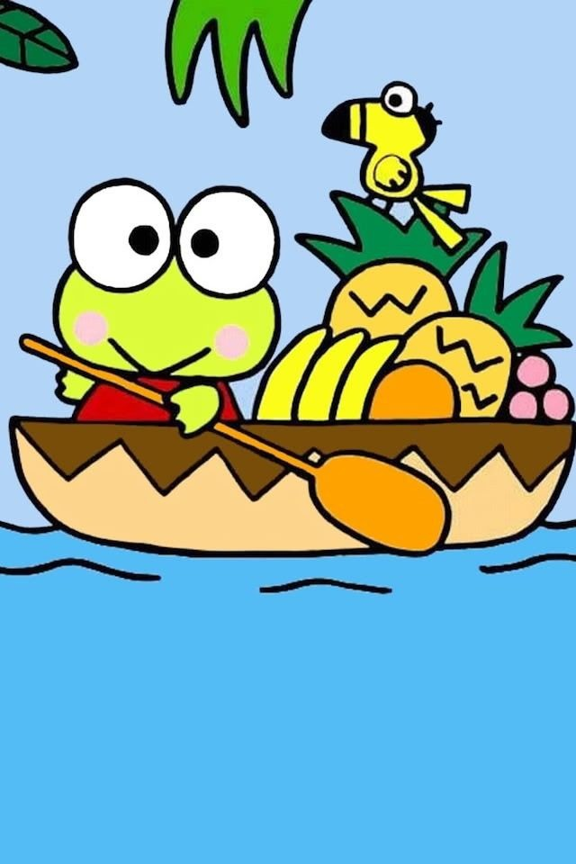 ボートに乗るケロッピー