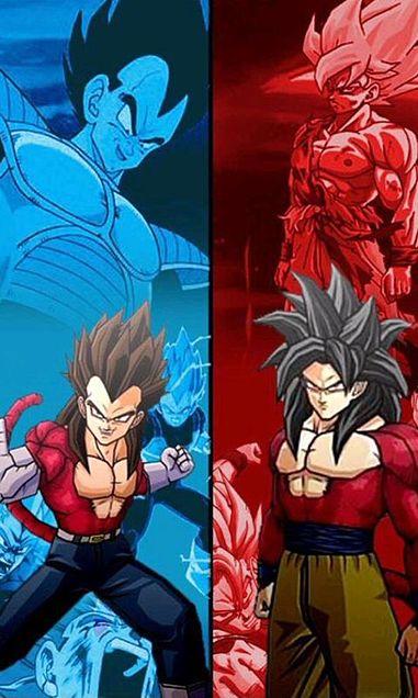 孫悟空とベジータ(スーパーサイヤ人4)ドラゴンボールGTの画像 プリ画像