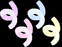 韓国 リボンシール デコ 量産型 加工 素材の画像(シールに関連した画像)