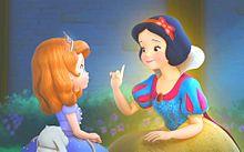 👑ソフィアと白雪姫🍎の画像(ディズニープリンセスに関連した画像)
