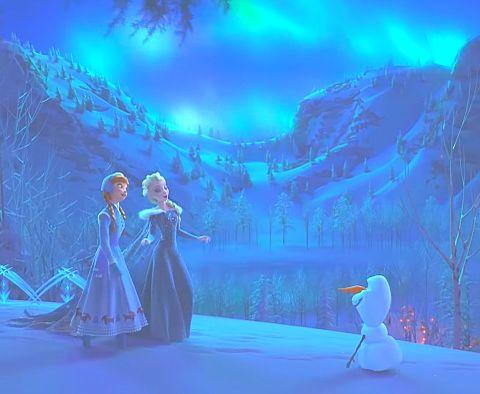 アナと雪の女王🌬❄️☃️🐎👱🏻👧🏼の画像(プリ画像)