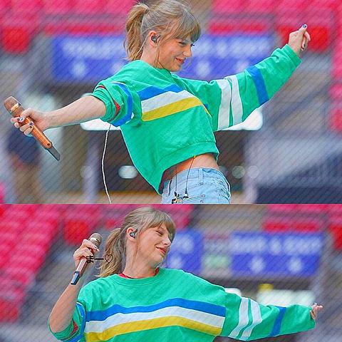 可愛い外国人おしゃれ海外歌手加工素材斜め線キレイ緑青の画像(プリ画像)