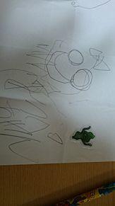 いとこが書いたほっぺちゃんがドラクエのスライムになったけんの画像(プリ画像)