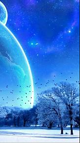雪景色(メインは空!!!)の画像(プリ画像)