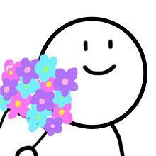 サムネ ゆるかわ 花束の画像(プリ画像)