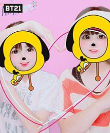 友達とプリクラ♡♡         (ちなみに、私は右側) プリ画像