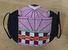 鬼滅の刃マスク 竈門禰豆子(かまどねずこ) なりきり コスプレ の画像(手作り、手縫い、マスクに関連した画像)