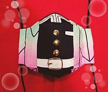 鬼滅の刃マスク 胡蝶しのぶ キッズ 隊服 コスプレの画像(鬼滅の刃、ハンドメイドに関連した画像)