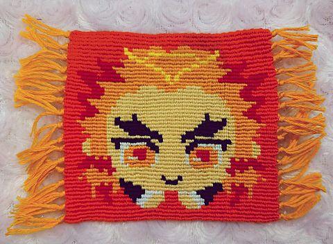 鬼滅の刃 煉獄杏寿郎 はぐキャラ ミサンガ コースター ドット絵の画像 プリ画像