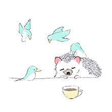 かわいいハリネズミのイラスト【ハリネズミのソフィー】の画像(ハリネズミ 壁紙に関連した画像)