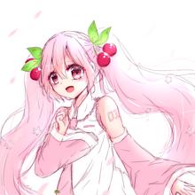 桜ミクちゃん落描きの画像(落描きに関連した画像)