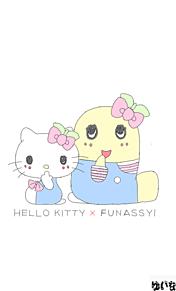 ★キティちゃん&ふなっしー★の画像(プリ画像)