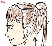 少女の横顔絵 保存❌ コメントでアドバイスお願いします🙇♀️の画像(アドバイスに関連した画像)