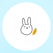 うさぎアイコンの画像(オレンジに関連した画像)