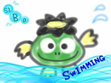 ぱちゃぽ 水泳 背泳ぎの画像(プリ画像)