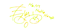 春川宙 サイン 背景透過 プリ画像