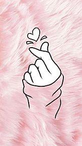 指ハート プリ画像
