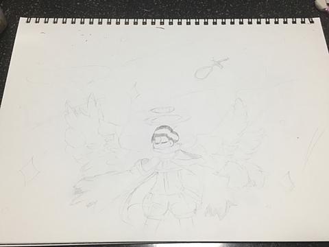大天使(下書き)の画像(プリ画像)