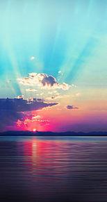 Landschaft der Morgenglutの画像(プリ画像)