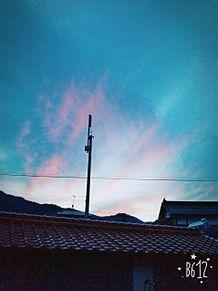 夕焼け雲と雨雲重なり、君の名は。の画像(プリ画像)