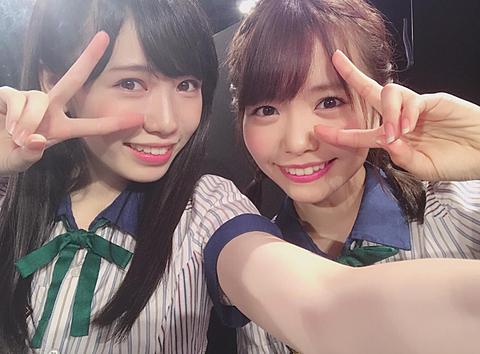 HKT48 運上弘菜 渕上舞の画像(プリ画像)