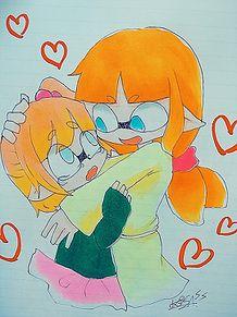 ふーちゃんと姉妹コラボ(*^^)vの画像(プリ画像)