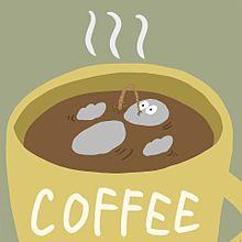 ハトくんとコーヒーの画像(雑貨に関連した画像)