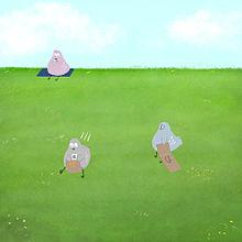 ハトくんの土手遊びの画像(土手に関連した画像)