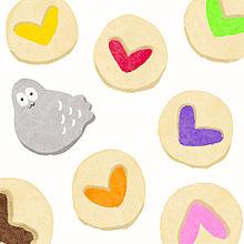 ハトくんとジャムクッキーの画像(イラストに関連した画像)