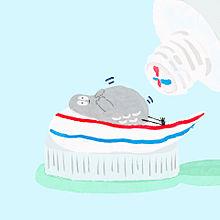 歯磨きハトくんの画像(歯磨きに関連した画像)