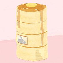 ハトくんとパンケーキの画像(あああ雑貨店に関連した画像)