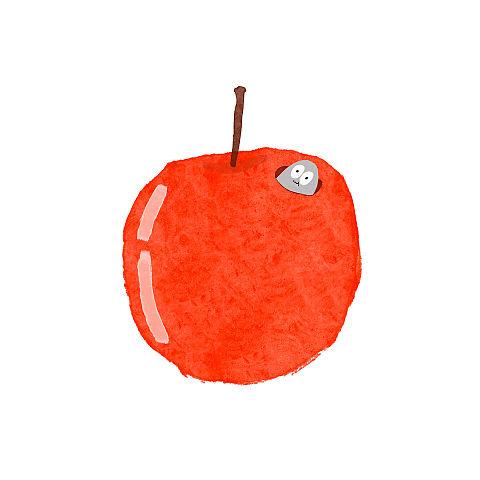 ハトくんとりんごの画像(プリ画像)