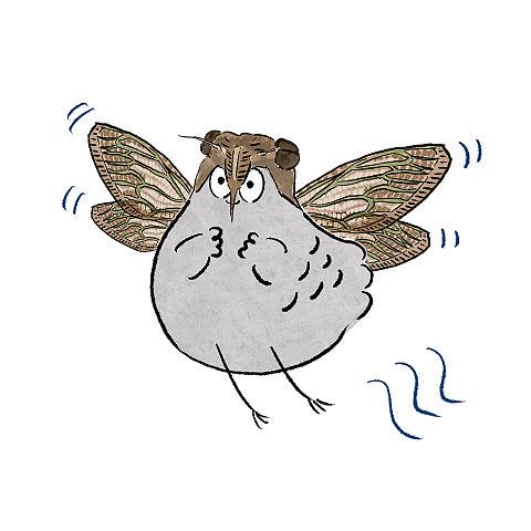 ハトくんセミの画像(プリ画像)