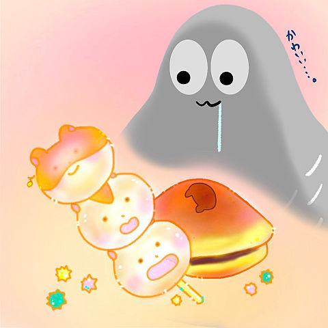 ハトくんとお団子ハムの画像(プリ画像)