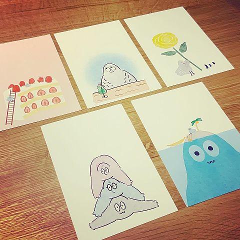 ハトくんのポストカードの画像(プリ画像)