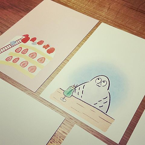 ハトくんのポストカードの画像 プリ画像