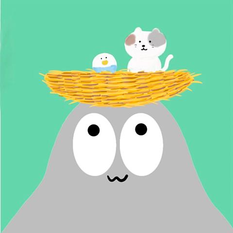 ハトくんとコトリの画像(プリ画像)