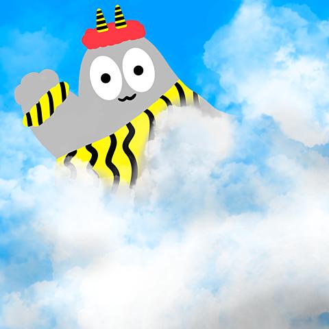 ハトくんと雷雲の画像 プリ画像