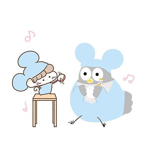 ハトくんと赤ちゃんの画像(プリ画像)