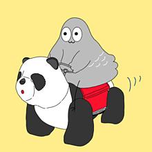 ハトくんとパンダカーの画像(可愛い パンダに関連した画像)