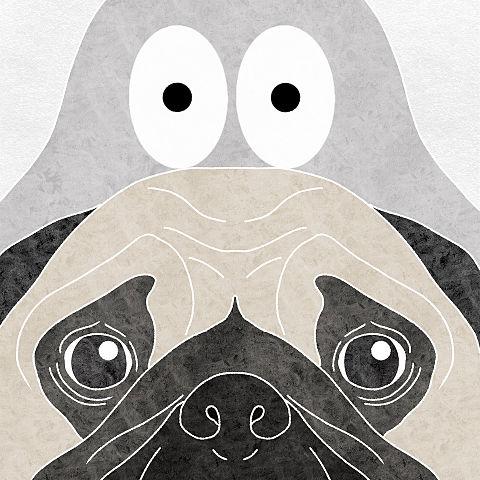 ハトくんとパグの画像(プリ画像)