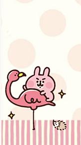 カナヘイの小動物ピスケ&うさぎ 待ち受け プリ画像