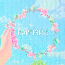 Happiness 花冠 青空 恋愛 友達 爽やか アメリカンの画像(プリ画像)